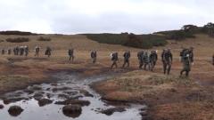 国庆节 边防官兵在巡逻路上