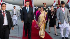 习近平抵达加德满都开始对尼泊尔进行国事访问