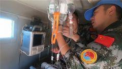 中国维和医疗分队紧急转运枪伤伤员