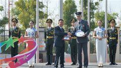 运动员村举行外国代表团欢迎仪式