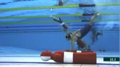 直通军运会:水上救生项目开赛 中国队又添1金1银