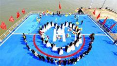 海天同一色 相伴共此生 中国卫星海上测控部为24对新人举办集体婚礼