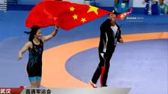 【直通军运会】摔跤赛场 中国队再获一金一银