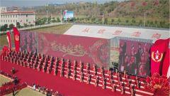 火箭軍某基地為116對新人舉辦集體婚禮