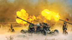 砺剑戈壁滩——新疆军区某高炮团实弹射击考核
