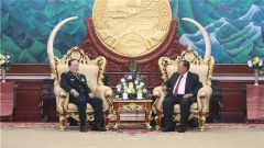 老撾人民革命黨中央總書記、國家主席本揚會見魏鳳和