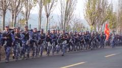 海軍航空大學組織野營拉練