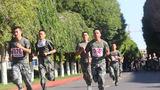 2019年8月底,官兵进行3000米跑考核。