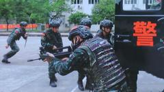 武警特戰小隊展開城市反恐演練