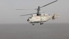 舰载直升机升空 昼夜飞行海天之间