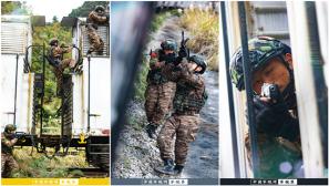【军视界】直击现场!武警特战队员开展火车反劫持演练