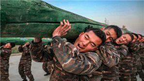 硬汉炫图来袭!武警新疆某支队冬季大练兵火热进行