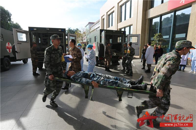 伤员后送至医院门诊