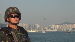 【聚焦实战化演兵场】驻香港部队组织三军联合海空巡逻