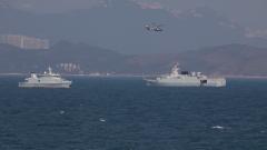 紧贴实战履行防务 三军联合海空巡逻 紧急出动 气霸海空