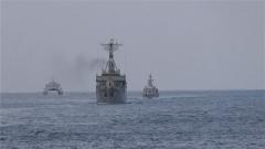 海军西宁舰圆满完成中俄伊海上联合演习