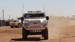 中国第7批赴马里维和部队与多国联合医疗分队开展救援演练