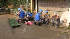 中國赴剛果(金)維和醫療分隊開展應急衛勤演練
