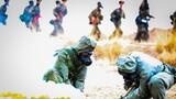 防化官兵對泄漏毒源、受染地域實施轉移掩埋和消毒消除