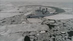 【新春走基層·記者在戰位】海軍破冰船在遼東灣北部發現大面積浮冰