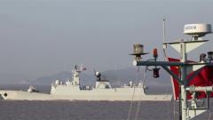 海军某驱逐舰支队开展高强度海上训练