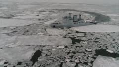 新春走基層·記者在戰位 海軍破冰船在遼東灣北部發現大面積浮冰