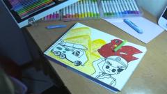泪奔!爸爸牺牲 女儿用画笔绘出一幅幅爸爸曾经模样