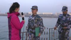 """新春直通車 水兵""""趕海""""測量水文氣象"""