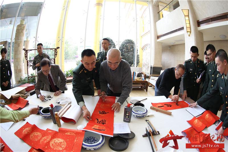 1月20日,粤澳两地书画家走进驻澳军营送上新春祝福2