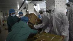 【直通疫情防控一線】武警官兵緊急搶運醫療物資