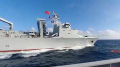 海军远海联合训练编队开展综合补给