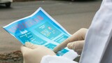 武警钦州支队官兵制作的预防新型冠状病毒感染肺炎宣传单。
