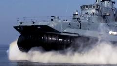 """目前世界上最大的气垫登陆艇:""""欧洲野牛"""""""