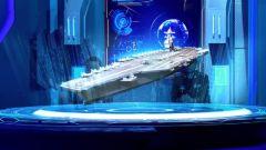美航母甲板上摆E=MC²造型 海军礼仪彰显核力量优势