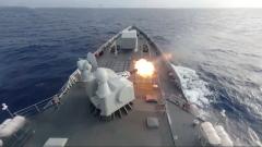 海軍遠海聯合訓練編隊組織防空演練