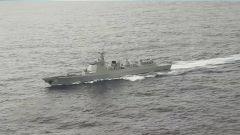 海軍遠海聯合訓練編隊開展綜合救助演練