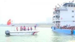 【打贏疫情防控阻擊戰】重慶:為停泊隔離船只配送生活物資 民兵水上救援分隊在行動