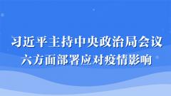 習近平主持中央政治局會議 六方面部署應對疫情影響