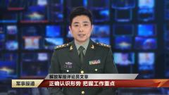 解放軍報評論員文章:正確認識形勢 把握工作重點