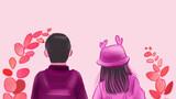 你是粉色,是绵绵的爱意,是温柔的陪伴。