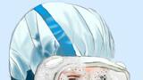 你是蓝色,护目镜里雾气凝结成水滴,眼睑之下口罩压痕叠叠重重,依然选择奋战坚守。
