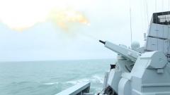 【第一军视】主副炮放大招!海军多艘舰艇实战化训练