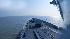 海军某驱逐舰支队组织多科目协同演练