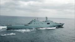 练兵备战 舰艇编队海上多科目训练