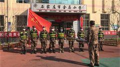 石家庄市裕华区人武部组织民兵开展消杀清洁服务