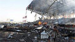 也門首都薩那遭多國聯軍戰機空襲