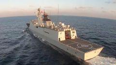 海军某驱逐舰支队多兵种联合演练