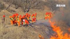 民兵应急分队开展森林防火演练