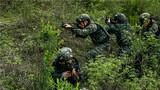 特战队员向目标地域隐蔽渗透。