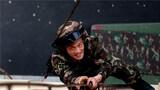 特战队员进行特种攀登训练。